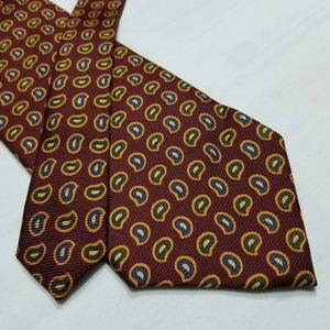100% Silk NORTHSHORE Multicolor Paisley Tie ~3.75